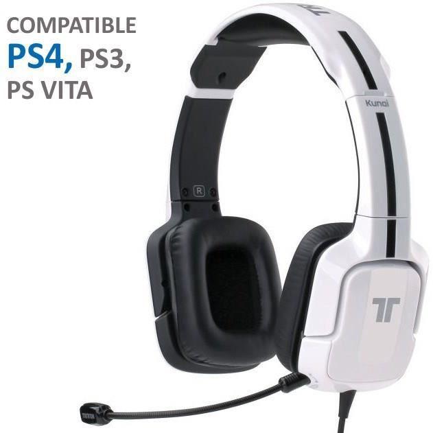 CASQUE MICRO JEUX VIDÉO Casque Gaming Tritton Kunai Blanc PS Vita-PS3-PS4