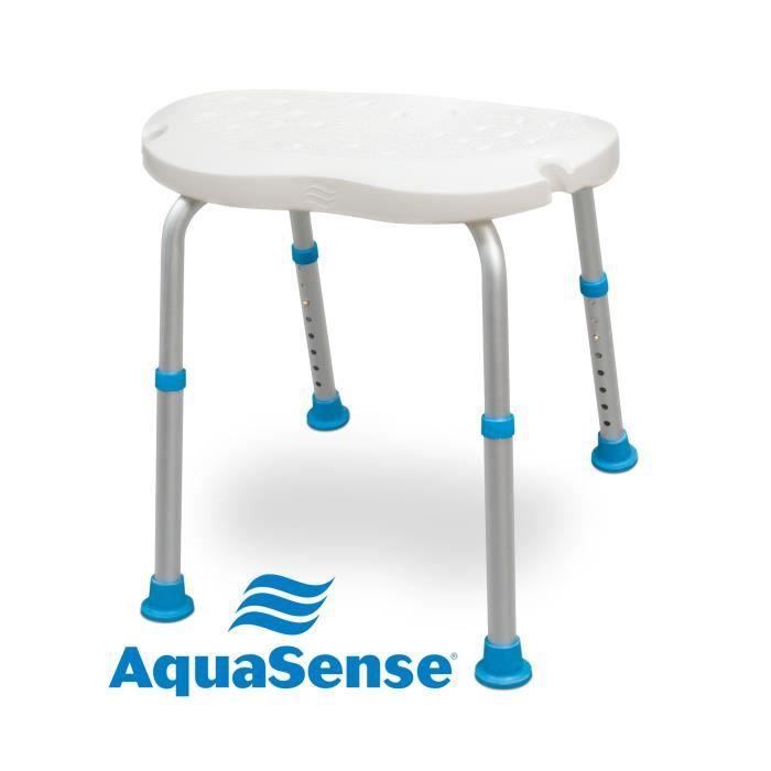 Siège de bain AIRGO NL-770-535 - Ergonomique - Surface texturée antidérapante - Ajustable de 38 à 56 cm - Poids maximal : 136 kg