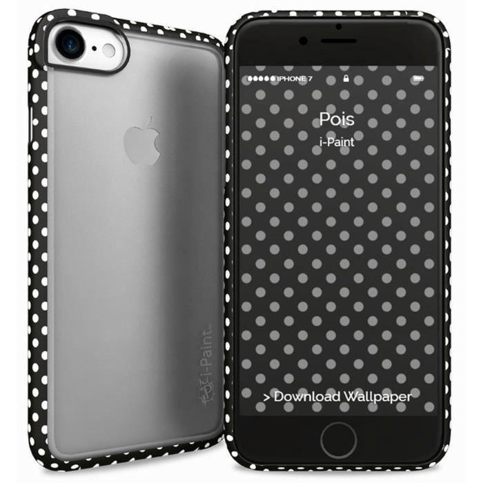 I-PAINT Coque pour Iphone 7 - Pois noirs