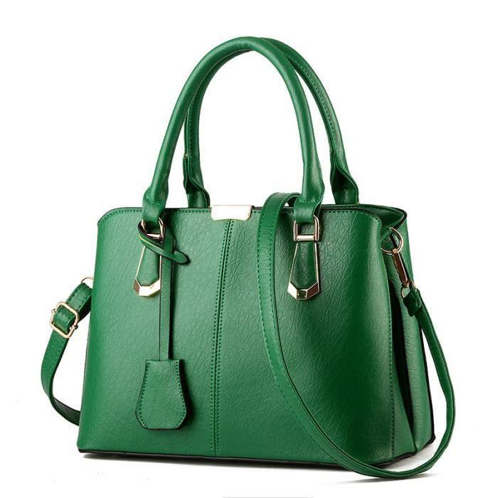 a8189680be8ac Sac femme sac à main sac cuir Sac Marque De Luxe Femme Cuir sacs sacs à main  femmes célèbres marques qualité supérieure vert