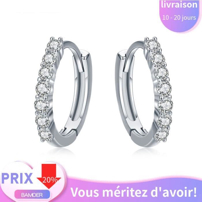 Brillant S925 NEUF Argent sterling Femme fashion Mignon Géométrie Design Clous D/'Oreilles