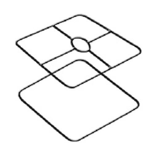 Armature abat-jour carré - 35 x 35 cm - Graines créatives - Achat ...