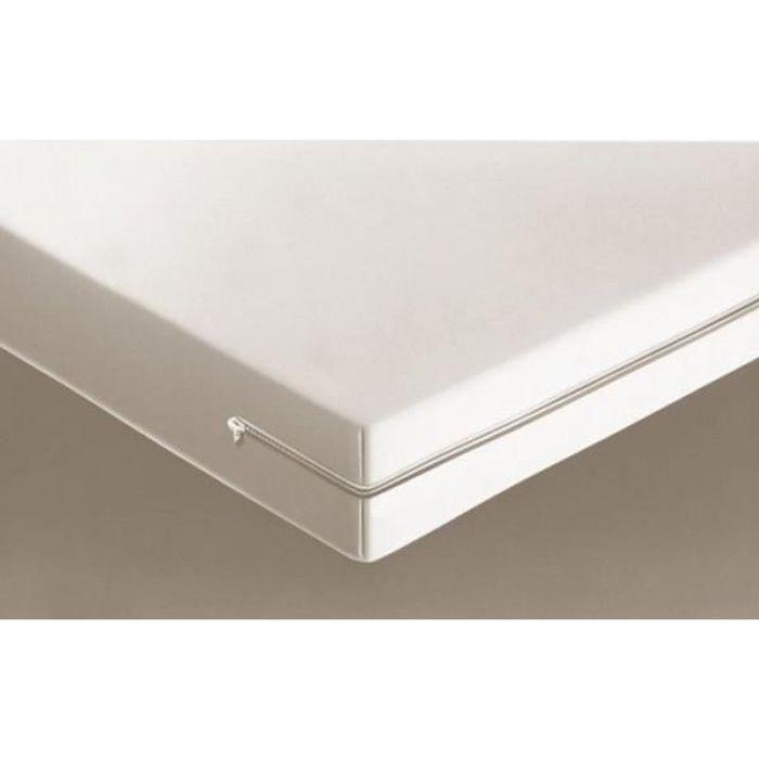 Housse De Matelas Integrale Coloris Blanc 140x190 Achat Vente