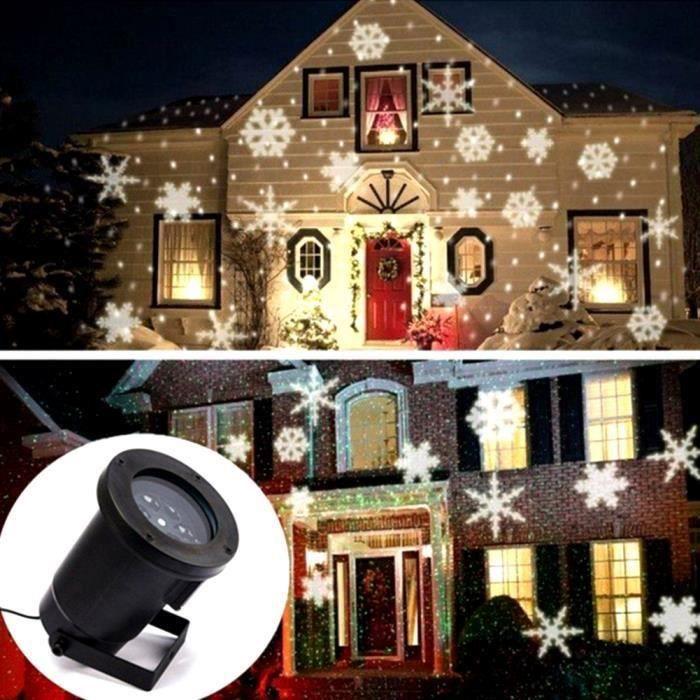D'éclairage Noël Neige Décor Paysage Projecteur Lumière De Flocon Led Lampeblanc MpVzGqSU