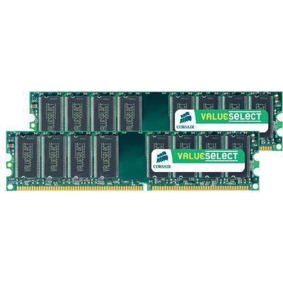 MÉMOIRE RAM Set RAM DDR2 667 MHz 4Go Corsair-Mémoire vive