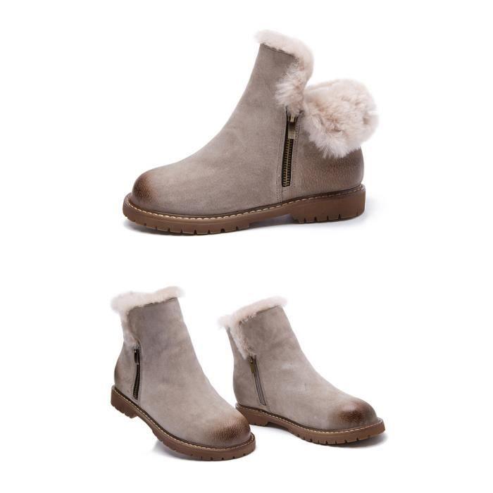 Femmes bottes bottes chaudes automne et hiver n...