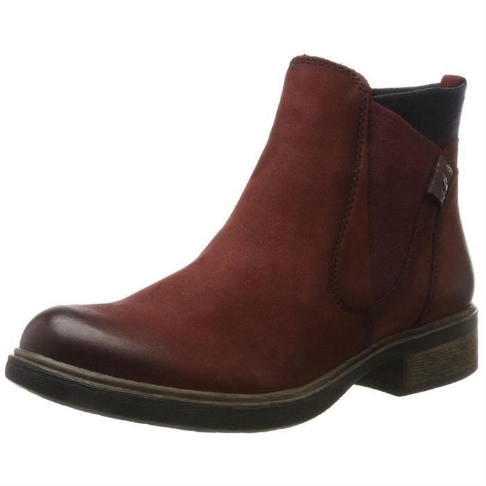 f6ae7af4dcc Bottines   low boots 25317 femme tamaris 25317 Rouge Bordeaux ...