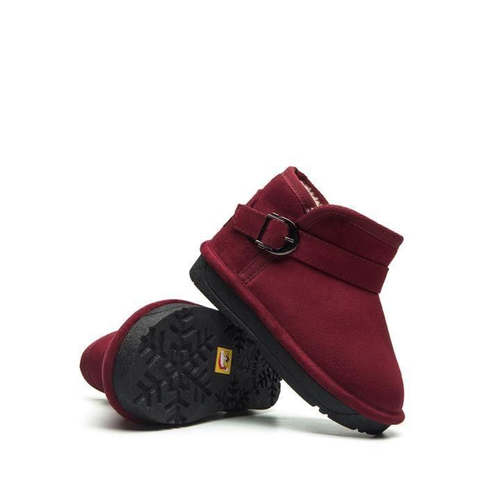 Coton Chaussures matelassée fille polaire Doublure chaude Bottes de neige 9691922