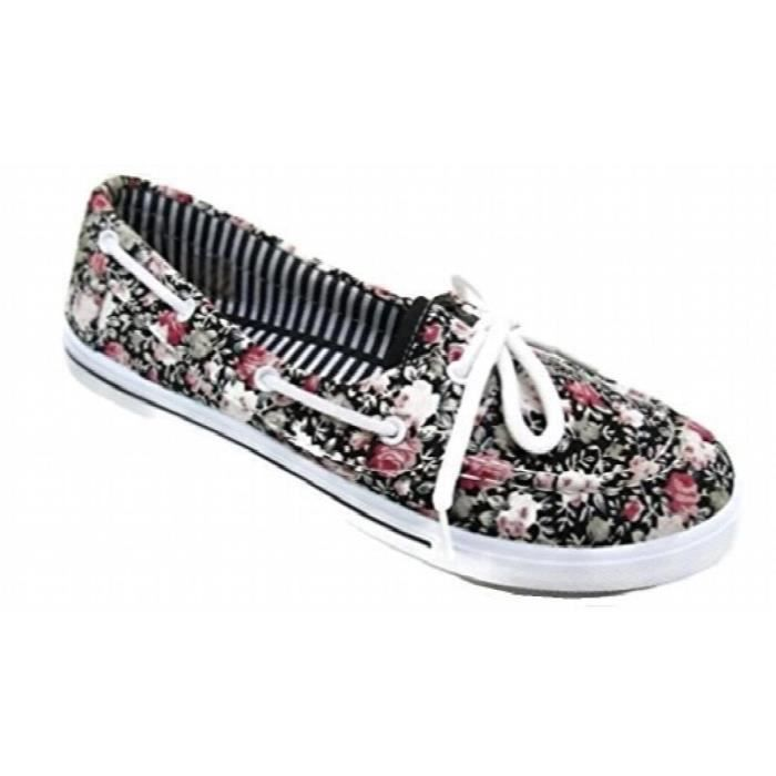 Tennis Slip Toe Flat Up Comfy On Boat I6auj Taille Round Shoe 1 Canvas 37 Sneaker 2 Delight Lace xFSwzIPtq