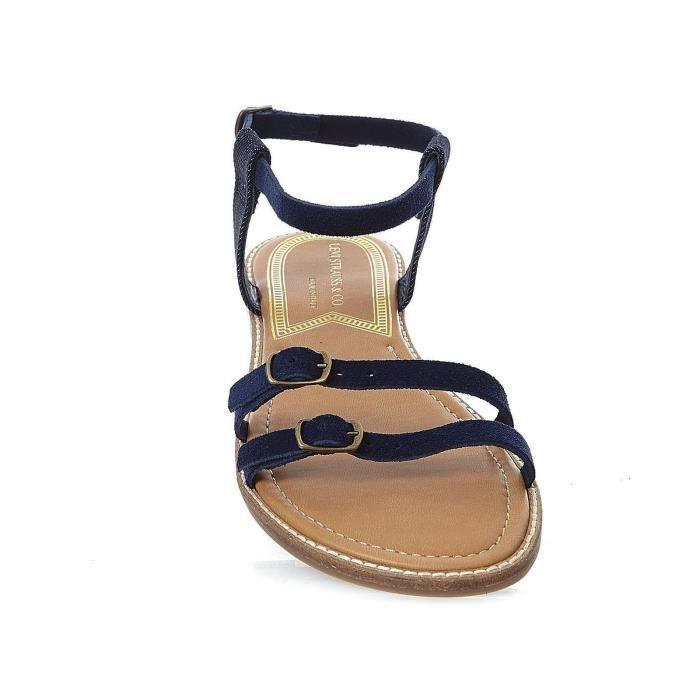 Cotati - Sandales en cuir suédé - bleu marine