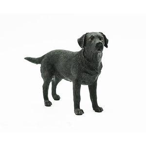 STATUE - STATUETTE Modèle de simulation de chien labrador noir de l'a