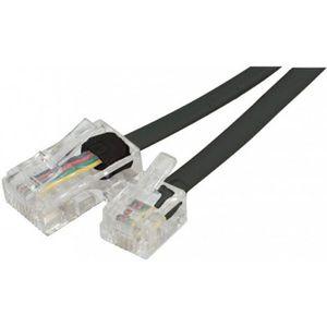 CÂBLE RÉSEAU  Cable RJ11 RJ45 téléphone 2m noir