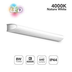 LED Luminaire Salle de Bain 8W, 60CM Lumière Miroir IP44, Applique Salle de  Bain Blanc Naturel 4000K L580 H02D46