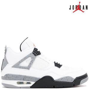 5678ae8af802b Nike Air Jordan 4 Retro IV WHITE CEMENT 308497-103 White/Fire Red ...