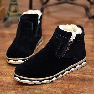 Botte Homme d'hiver Zipper Style Coréen noir taille10 Noir Noir - Achat / Vente botte  - Soldes* dès le 27 juin ! Cdiscount