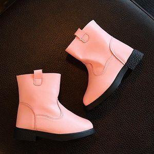 BOTTE Enfants Mode Filles Martin Solid Sneaker Hiver Cha