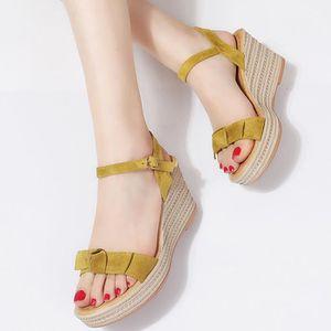 fdc8b7d967ed SANDALE - NU-PIEDS Femmes Sandales Chaussures Compensées mode tissage