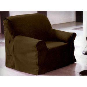 Housse fauteuil taupe Achat Vente pas cher