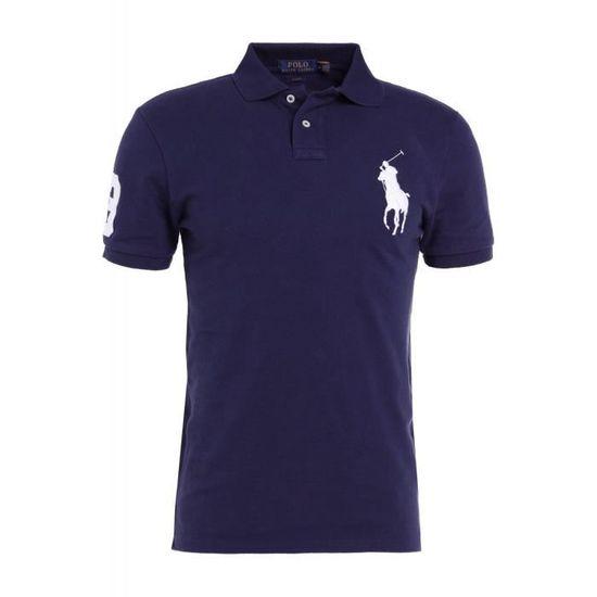 POLO RALPH LAUREN Polo marine gros logo manches courtes. Polo manches  courtes pour homme de ... cc9bb63e43b2