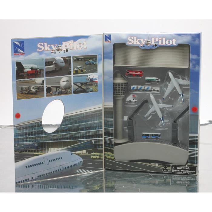 NEWRAY - 07335 - Aéroport avec Accessoires - Miniature - Coffret - 60 cm