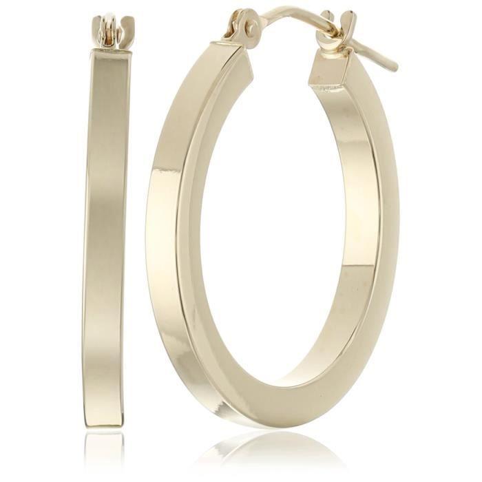 Craze 14k Yellow Gold Square Tube Hoop Earrings IGXNR