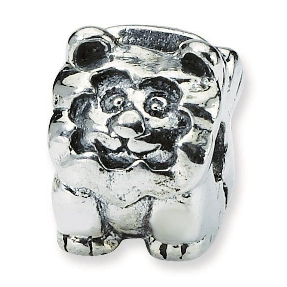 Argent Sterling réflexions Kids Lion Charm perle