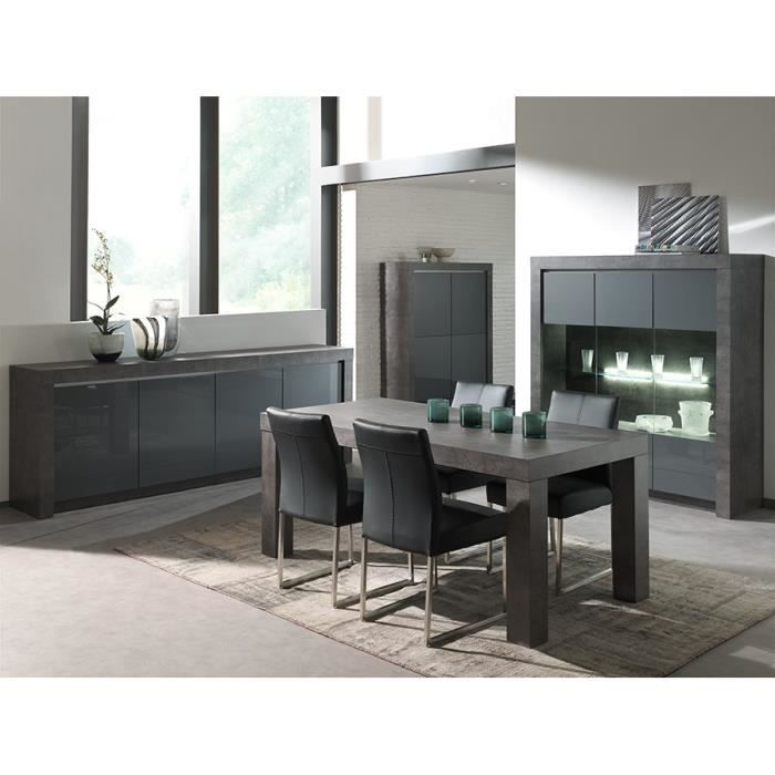 Table Basse Table A Manger : Salle ? Manger Grise Compl?te Tr?s ...