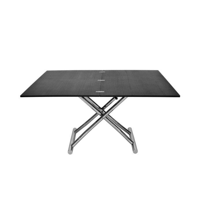 TABLE BASSE Table basse relevable XXL wengé design