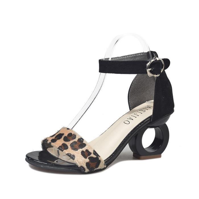 Sandales femme Nouveau Roma haut talon Décontractée mode simple ouvert Toe Creux Z2cUwnPc9