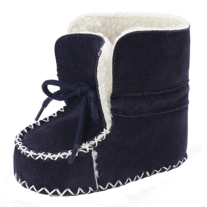bad682f5362b4 Bottes Neige Soft Âge Sole aby Velours 2651 Enfant Bas En Lacet Avec Souple  Chaussures Lit ...