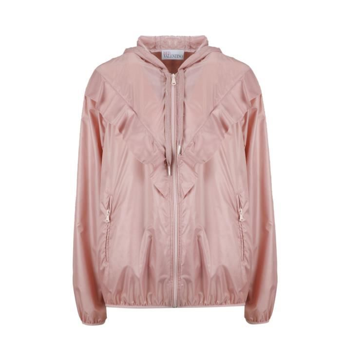 Rose Polyester Valentino Femme Rr3cia40byzr13 Blouson Red xtI1qS