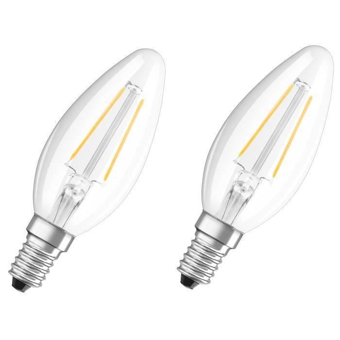 Ampoules Claire Blanc 2 Équivalent E14 De Chaud 1 Flamme 25 Osram À Lot W Led 2 dxeorCB