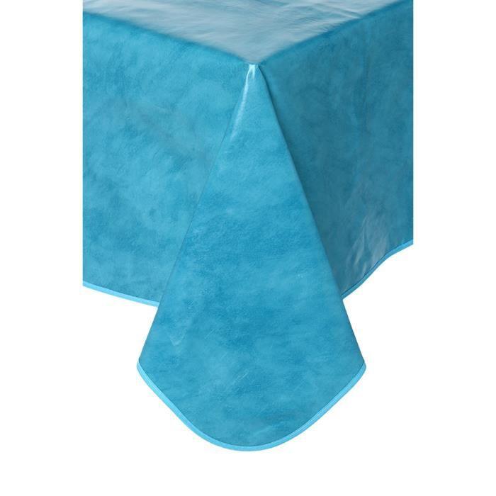 Toile cirée rectangle turquoise - BLEU - Achat / Vente nappe de ...