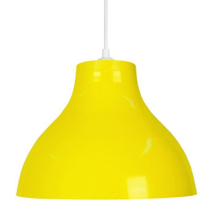 suspension jaune achat vente suspension jaune pas cher soldes d s le 10 janvier cdiscount. Black Bedroom Furniture Sets. Home Design Ideas
