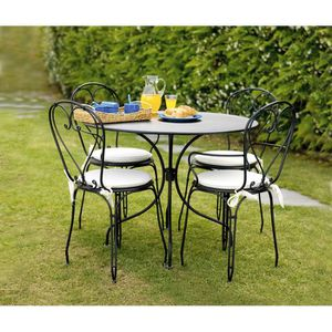 Chaise jardin fer forge achat vente chaise jardin fer - Chaise en fer forge pour jardin ...