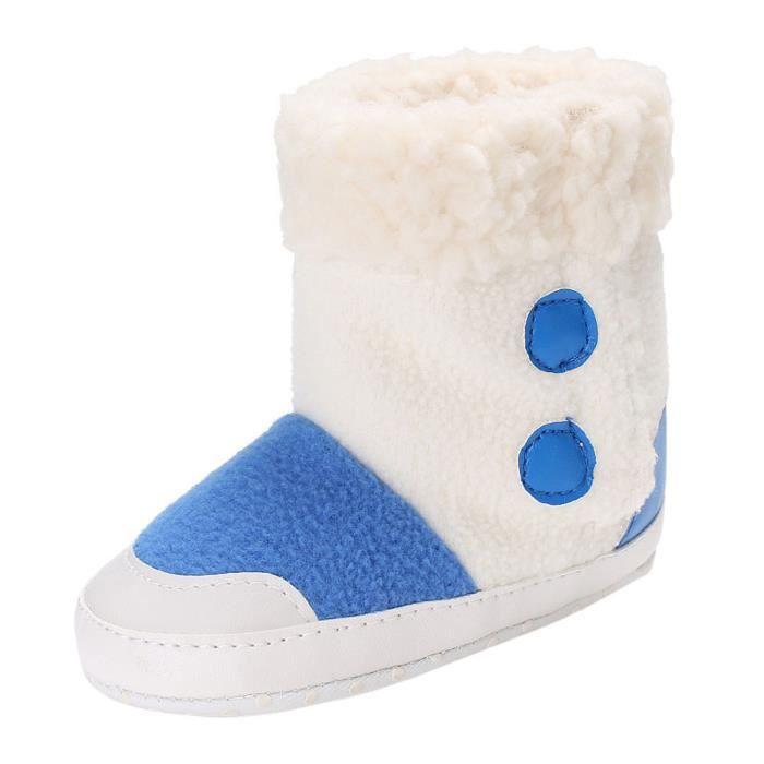 Baby pompons Soft semelle bottes de neige molles chaussures de berceau bottes tout-petits NOS7VOP