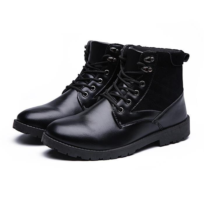 Botte Homme Automne et hiver hautes Courtes noir taille43