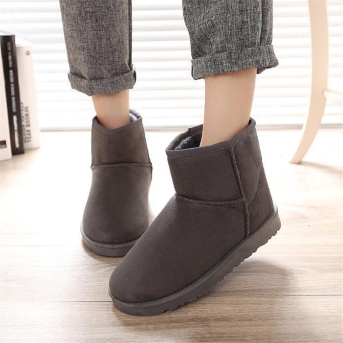 Bottes De Neige Chaussure Garde Au Chaud Doux Beau Antidérapant Mode Hiver Coton Botte Femme super Confortable Plus De Cachemire PgJwt