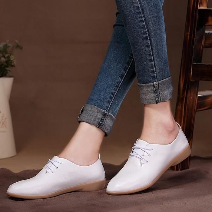 formes Sneakers love3548 Bout De Mode Rond Beguinstore Loisirs Slip Femme Plates Chaussures Blanc Plates PqUXwf