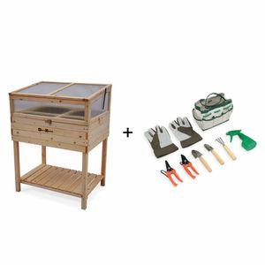 potager carre en bois achat vente pas cher. Black Bedroom Furniture Sets. Home Design Ideas