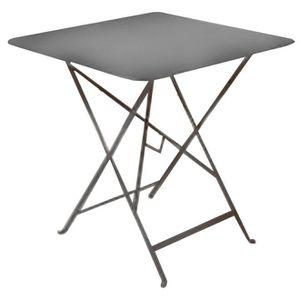 Table de jardin pliante metal Carree Grise 70x70cm - Achat / Vente ...