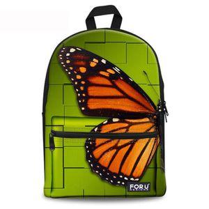 13f9fccc98 SAC À DOS Belle Sac à dos papillon pour les adolescents Roma