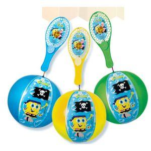 JOKARI - TAP-TAP TAP BALL BOB L'EPONGE Ballon Gonflable avec raquet