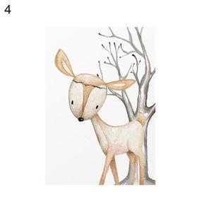 OBJET DÉCORATION MURALE Moderne Nordique Mignon Fox Cerf Animal Mur Art Pe