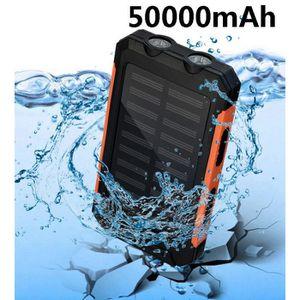 BATTERIE EXTERNE 50000mAh double alimentation électrique solaire im
