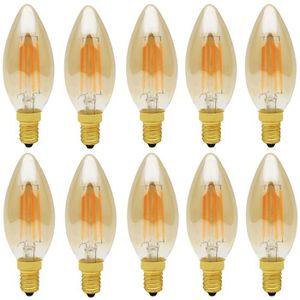 AMPOULE - LED 10X E14 Ampoule Edison 4W Dimmable Ampoule Filamen