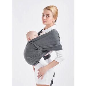 EOZY Écharpe De Portage Bébé Souple Porte Bébé Confortable Gris - Porte bébé souple