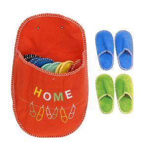 CHAUSSON - PANTOUFLE 5 paires de chaussons pantoufles invités - orange
