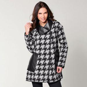 MANTEAU - CABAN Manteau réversible imitation cuir et imprimé femme