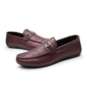 Chaussures Roamers rouge bordeaux homme IBRMBpH